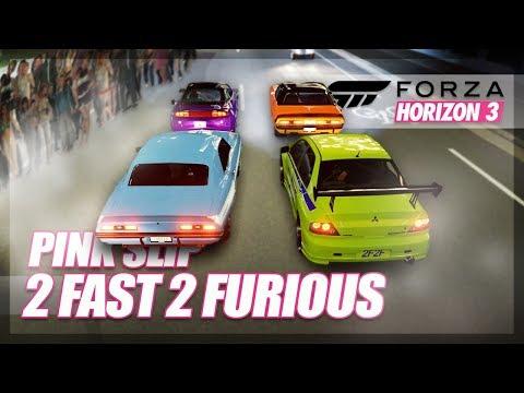 Forza Horizon 3 - 2 Fast 2 Furious Recreation! (Pink Slip Drag Race)