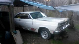 66 Fairlane 500 289 3 on tree in process of restoration start up rev