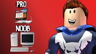 NOOB vs PRO! Who has the better PC? Roblox