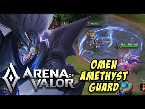 OMEN: AMETHYST GUARD SKIN GAMEPLAY | SS SKIN | NEW OMEN SKIN | Arena Of Valor