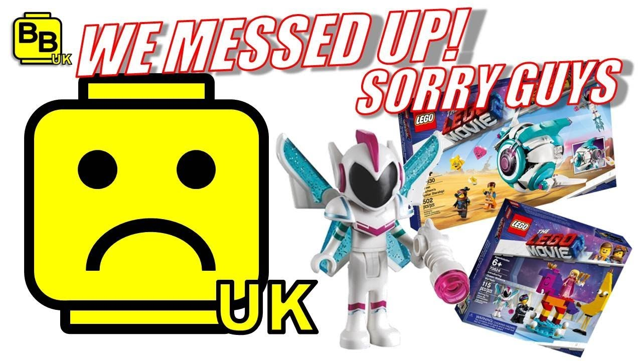 We Messed Up Our Lego Movie 2 Video Sorry Guys Youtube