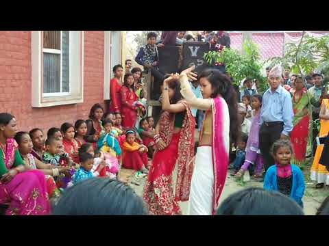 Dance on nepali wedding's in Nepal part 1