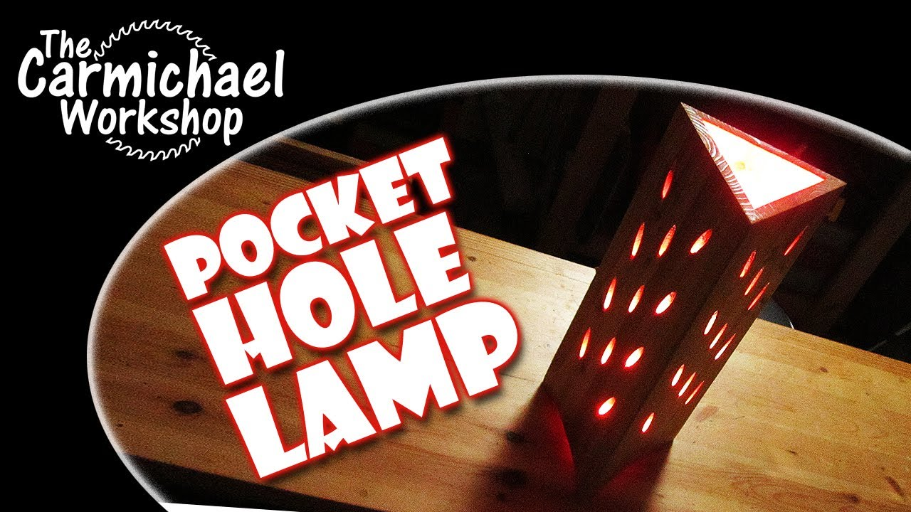 Make A Pocket Hole Lamp Fun Kreg Jig Woodworking