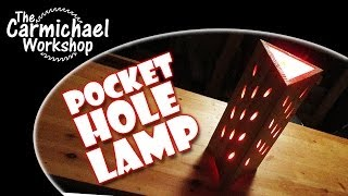 Make A Pocket Hole Lamp - Fun Kreg Jig Woodworking Projects