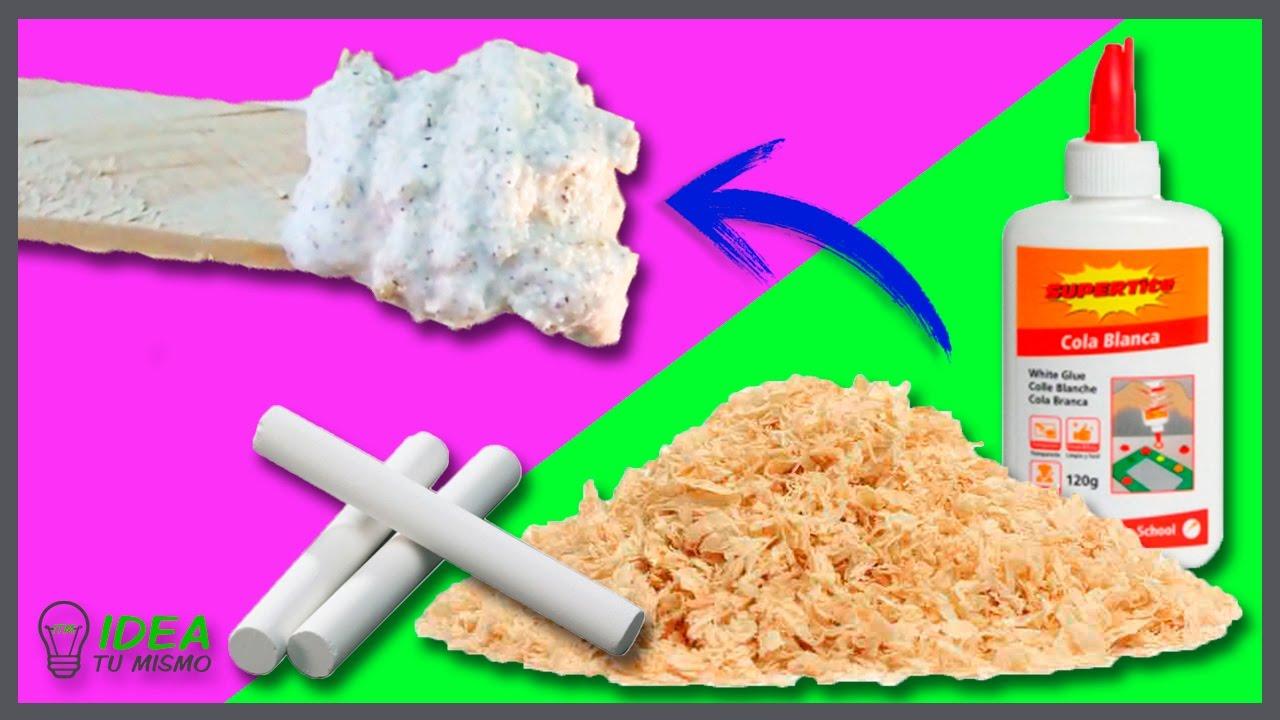 How to make easy diy wood putty c mo hacer masilla de - Masilla para madera casera ...