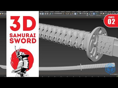 Tutorial Modelar Espada Samurai Katana 3D no Autodesk 3ds Max - Parte 02