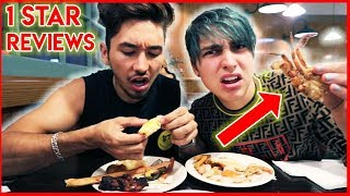 Eating at the WORST reviewed BUFFET w/ Brennen