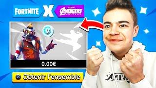 "Oh! The second SKIN ""AVENGER"" in the BOUTIQUE on FORTNITE! 😍"