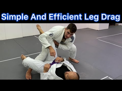 Simple And Efficient Leg Drag BJJ Guard Pass