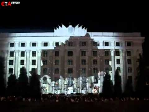 Ukraine tries its hand at building projection art.