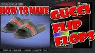 e533d219793cd4 NBA 2K16 How to Create a Gucci Flip Flops