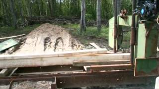 My Homemade Bandsaw Mill Just Eats Wood