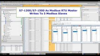 S7 1200/S7-1500 As Modbus RTU Master Write To 5 Modbus Slaves
