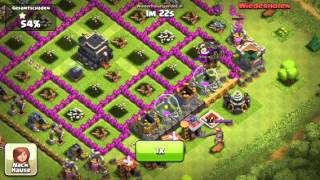 Clash of Clans ingame fight 32 Ballons lvl 6 Rage