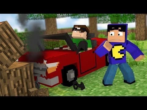 Minecraft: ACIDENTE DE CARRO! (Mapa)