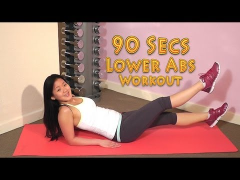 How to Get a Flat & Sexy Tummy. Best 90Secs Lower Abs Workout! No More Excuses!