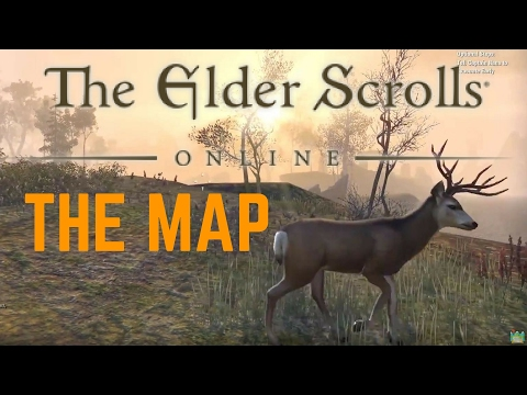 HOW BIG IS THE MAP in The Elder Scrolls Online? Walk Across the Map