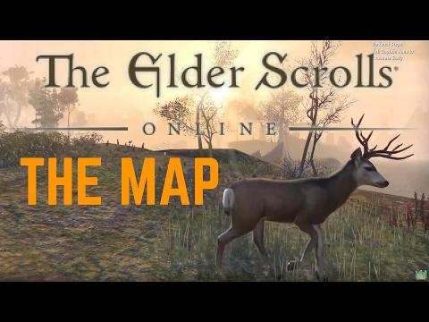 HOW BIG IS THE MAP in The Elder Scrolls Online? Walk Across the Map