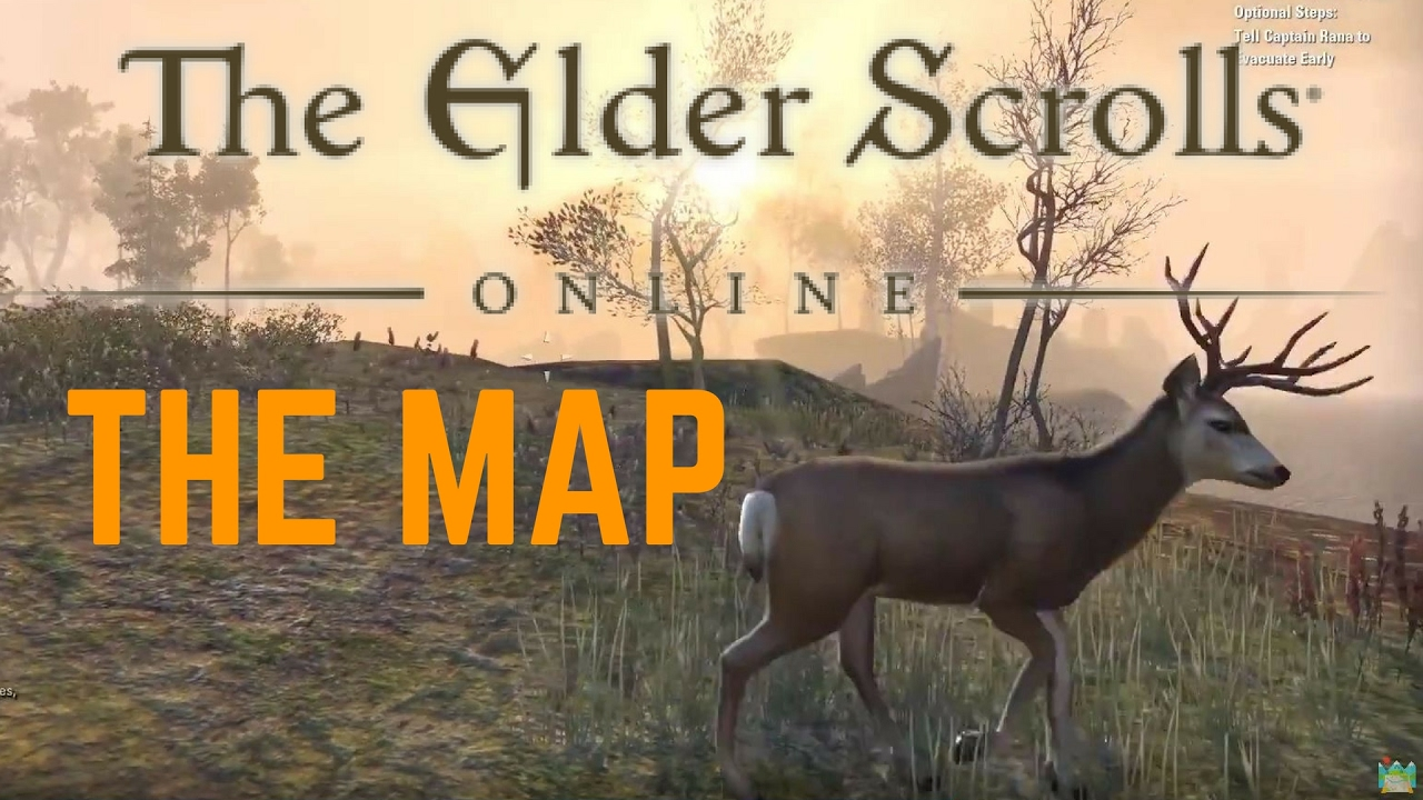 HOW BIG IS THE MAP in The Elder Scrolls Online? Walk Across the Map ...