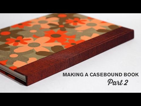 Making a Casebound Hardcover Book (Part 2: Making the Cover)