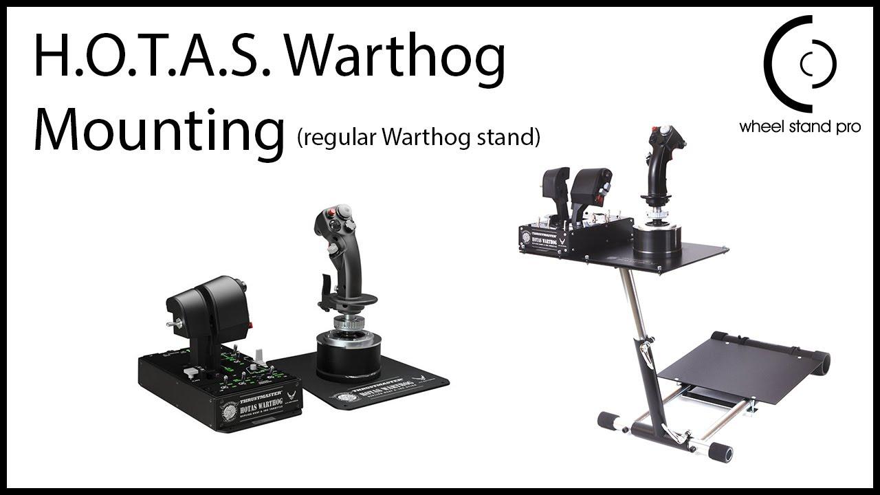 Wheel Stand Pro For Thrustmaster Hotas Warthog Set Up