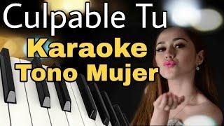 Culpable Tu - Alta Consigna - Karaoke Acustico Tono Mujer - Leo Mart