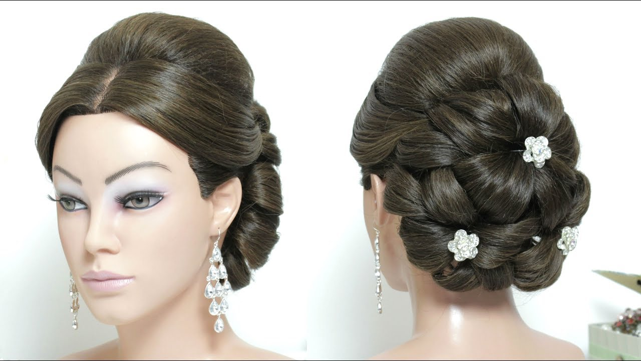 Elegant Wedding Updo. Bridal Hairstyle For Long Hair Tutorial - YouTube