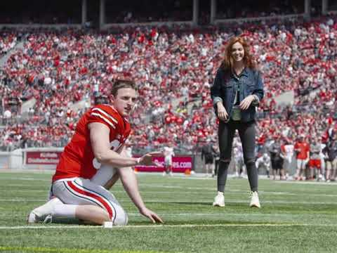 I proposed to my girlfriend during the Ohio State spring game