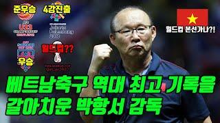 베트남축구 역대 최고 기록을 갈아치운 박항서 감독ㄷㄷㄷ
