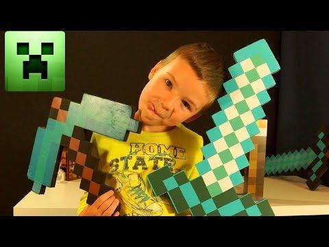 ВЛОГ Покупаем Игрушки МАЙНКРАФТ, Большая Лего Самоделка MINECRAFT - Видео для Детей
