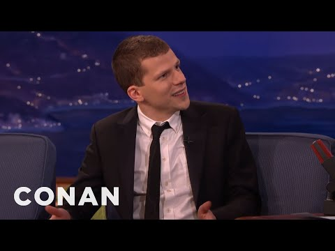 Jesse Eisenberg: People Who Smile A Lot Are Deranged   CONAN on TBS