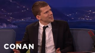 Jesse Eisenberg: People Who Smile A Lot Are Deranged  - CONAN on TBS