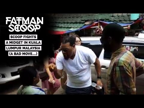 Traveling The World - Scoop Fights A MIDGET In Kuala Lumpur Malaysia (Bad Move)