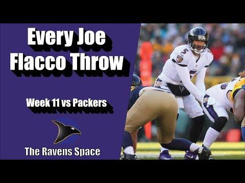 Every Joe Flacco Throw Vs Packers | Ravens Space Highlights