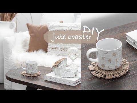 DIY Crochet Jute Twine Coaster
