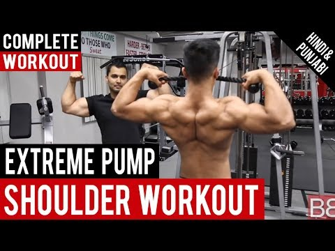 Complete SHOULDER WORKOUT ROUTINE for EXTREME PUMP! BBRT #19 (Hindi / Punjabi)