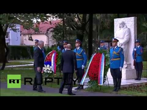 Serbia: Putin pays his respects at WWII memorial in Belgrade