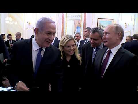 Prime Minister Benjamin Netanyahu and Russian President Vladimir Putin in Moscow