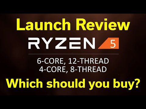Ryzen 5 - Launch Review - 8 Games Tested