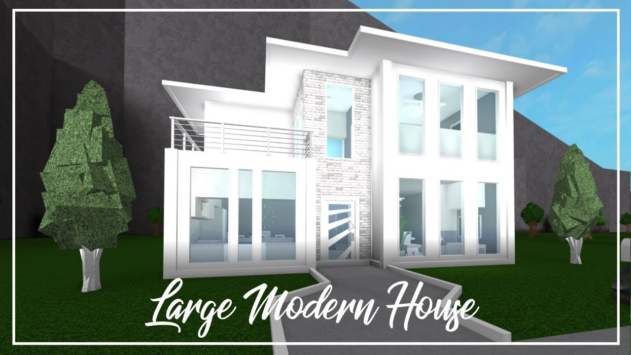 Roblox Welcome To Bloxburg Large Modern House Youtube