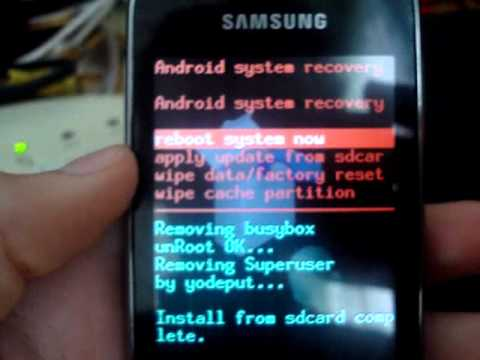 UnRoot Galaxy S5350 Young На русском АнРутирование!!