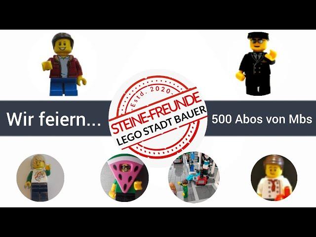 Lego Städtebau Stream - Wir feiern die 500 Abos von Master Bricks Studios