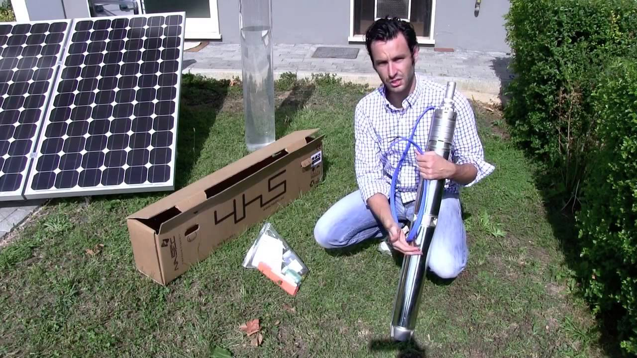 Bomba d 39 gua movida a energia solar youtube for Bombas de agua para estanques de jardin