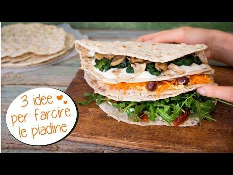 PIADINE FATTE IN CASA LIGHT E PROTEICHE + 3 IDEE PER FARCIRLE | #AD FoodSpring thumbnail