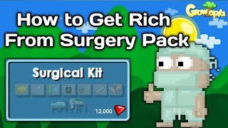 HOW TO GET RICH WITH 1 DL [EXPLAINED SURGERY PACK PROFITS] - Growtopia