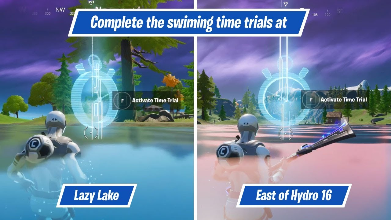 Complete The Swimming Time Trials At Lazy Lake And East Of Hydro 16 Dive Challenge
