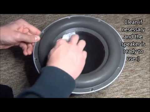 Mounting a speaker dustcap
