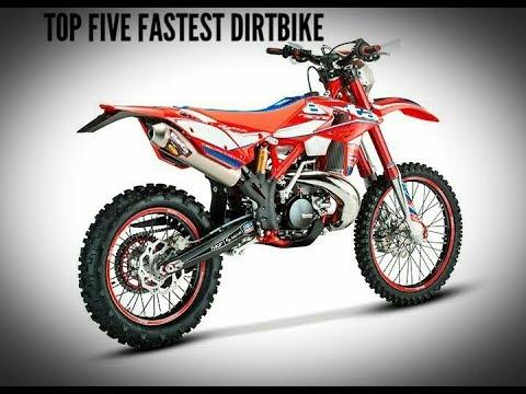 Top five fastest dirt bike 2018