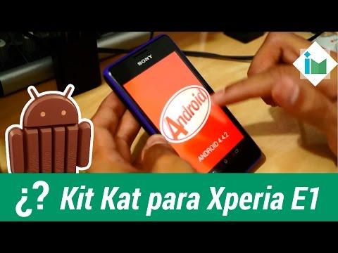 Actualizar a Android Kit Kat el Sony Xperia E1