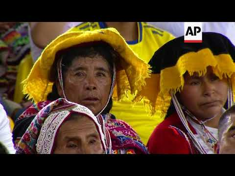 Pope meets with indigenous people in Peru's Amazon